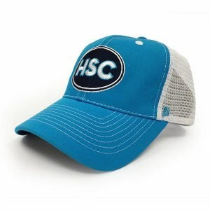 Custom blue cap