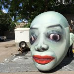 Custom Art Inflatable Head