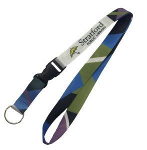 Nylon sublimation printed lanyard
